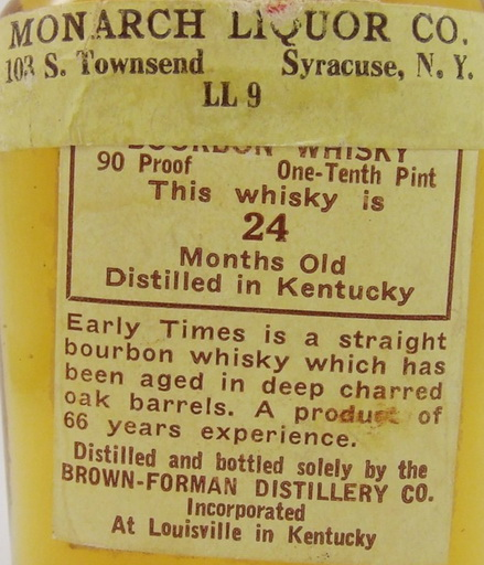 early times whisky